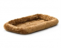 MidWest лежак для животных QuietTime Deluxe Cinnamon Bolster Pet Bed меховой, коричневый