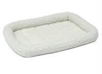 MidWest лежанка для животных QuietTime Deluxe Fleece Bolster Pet Bed флисовая, белая