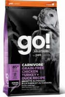 Go! Solutions Dogs Senior Carnivore Grain-Free Chicken Trurkey + Duck Recipe сухой беззерновой корм для пожилых собак: курица, индейка, форель, утка и лосось