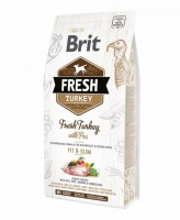 Brit Fresh Light Fit Slim Turkey with Pea корм для собак контроль веса Индейка с Горохом