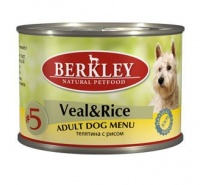 Berkley Dog Menu Veal Rice #5 Консервы для собак Телятина с рисом