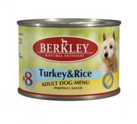 Berkley Dog Menu Turkey Rice #8 Консервы для собак Индейка с рисом